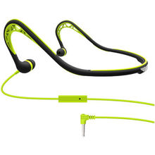 2014 Newest Design Waterproof Sports Neckband Earphones with Reflective Fabric, 32 Ohms Impedance