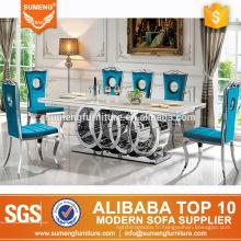 SUMENG set de table à manger rond en marbre BH-230