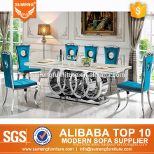 SUMENG most popular round leg marble dining table set BH-230