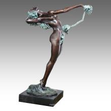 Bailarina Figura Estatua Grape Lady Bronze Sculpture TPE-521