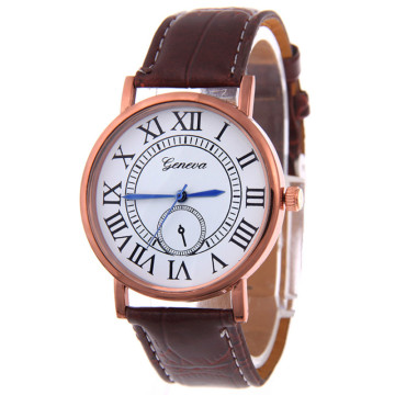 Simple Roman Dial Leather Watches Fashion