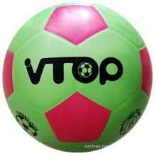 Green Color V-Top Rubber Football for Sporting