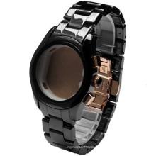 Caso de cerâmica e banda para homens e mulheres relógio de pulso ou pedaços de tempo de cerâmica
