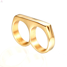 Statement Personalized Punk Double Two Finger Ring