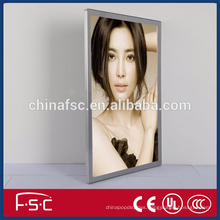Customized picture frame for magnetic led light box