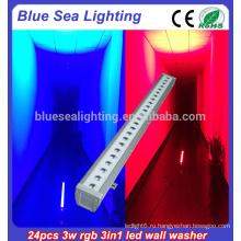 24x3w rgb 3in1 самый мощный светодиодный свет наводнения светодиодный светильник настенного светильника