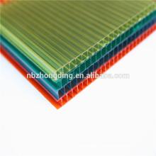 Panneau de 6 mm en polycarbonate en polycarbonate à double paroi coloré / panneau de sol en polycarbonate