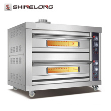 Shinelong High Quality Restaurant 4 bandejas Gas Deck Oven