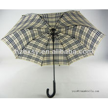 King Size Check Pattern Straight Umbrella