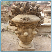 Новый дизайн большой античный каменный сад цветочный горшок