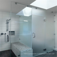 Safety Tempered Shower Verre clair de porte