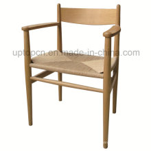 Europe Wood Restaurant Chair with Braided Rope Seat (SP-EC715)