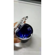 Custom Smokeless Silver Stainless Steel Ashtray Outdoor /LED Light Car Ashtray