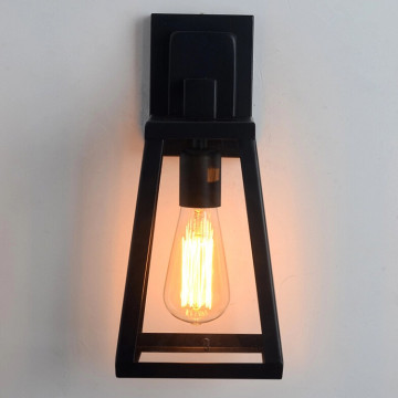 Black Outdoor Wall Lamp