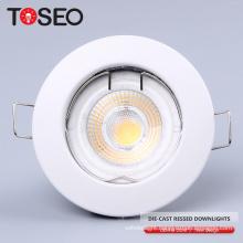 Die casting recessed indoor quality round mr16 gu10 led recessed ceiling down light lamp fixture
