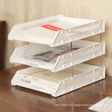 Regalo promocional para bandeja de archivos de tres capas Oi27004