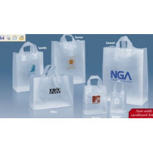 Hdpe Heavy Load Cargos Semi - Transparent Recycled Reusable Shopping Bags For Gift Shop