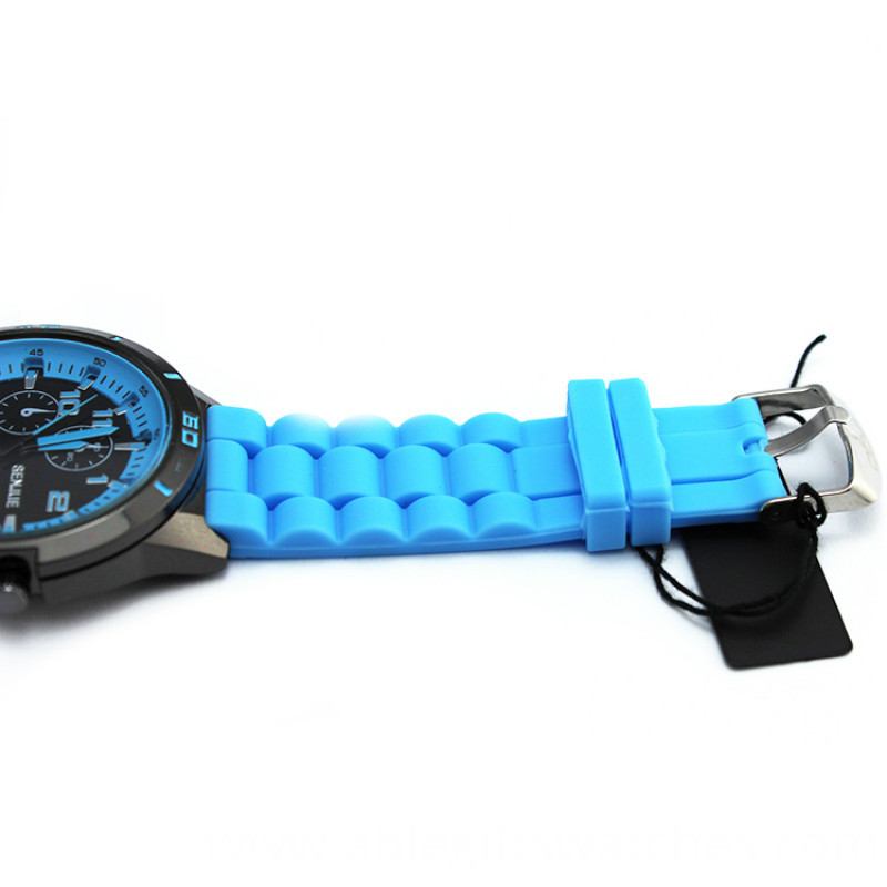 silicone couple quartz watch