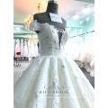 Vestido de Festa Hochzeit dres super geschwollen 3D Blumen tiefem V-Ausschnitt ärmellose Brautkleider 2017