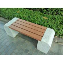 Roadside Patio Space Composite Bench WPC Board Vinyl Bench