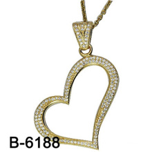 New Design Fashion Jewelry 925 Sterling Silver Pendant with Heart Shape