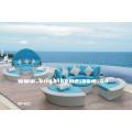Juego de salón al aire libre / sofá cama / muebles de jardín (BP-602)