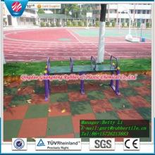 Revêtement de sol en caoutchouc coloré de terrain de jeu de pavé en caoutchouc de tuile en caoutchouc de place