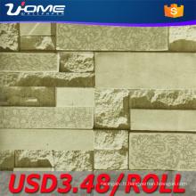 Uhome brique 3D Wallpaper pour décoration Vintage