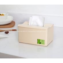 Boîtes à mouchoirs en plastique en fibre de bambou créatives