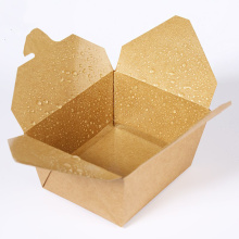 Disposable Kraft Paper Lunch Box Takeaway Packaging Box