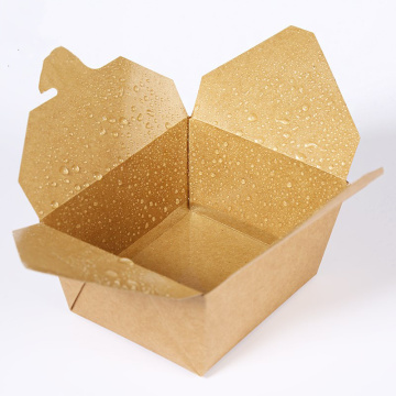 Pakai Kraft Paper Lunch Box Takeaway Kotak Kemasan