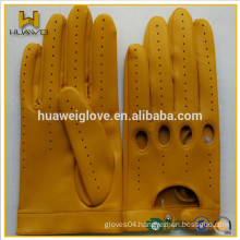 Goatskin Driving Gloves Adults Customed Made Leather Driving Gloves with perforation