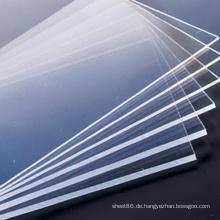 Transparentes steifes PVC-Plastikbrett für das Errichten