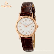 Timesea Women′s Leather Strap Watch 71204