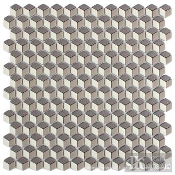 Decorative Rhombus Glass Mosaic Tile Art