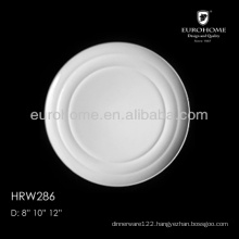 manufactory direct selling ceramic dinner plate HRW286