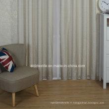 Tissu de rideau de fenêtre teintée en fil de polyester à motifs modernes de qualité supérieure