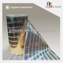 Holographic metallized pillar of light lamination film