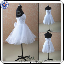 JJ2934 Beaded Sweetheart lace wedding dresses short