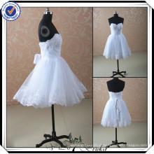 JJ2934 Beaded Sweetheart vestidos de casamento de renda curto