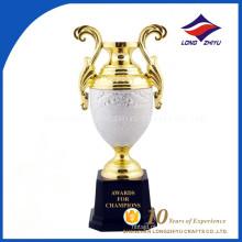 Troféu luxuoso customizado Hign-end Golden Silver Trophy