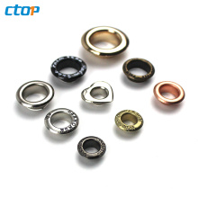 Custom Fashion Style Metal Eyelet For Shoes Standard Environment Oval Eyelets For Clothing