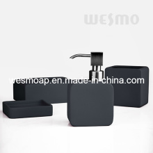 Grey Rubber Oil Coated Porcelain Bathroom Set (WBC0809B)