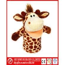Juguete caliente de la marioneta de mano de la jirafa de la felpa de la venta con CE