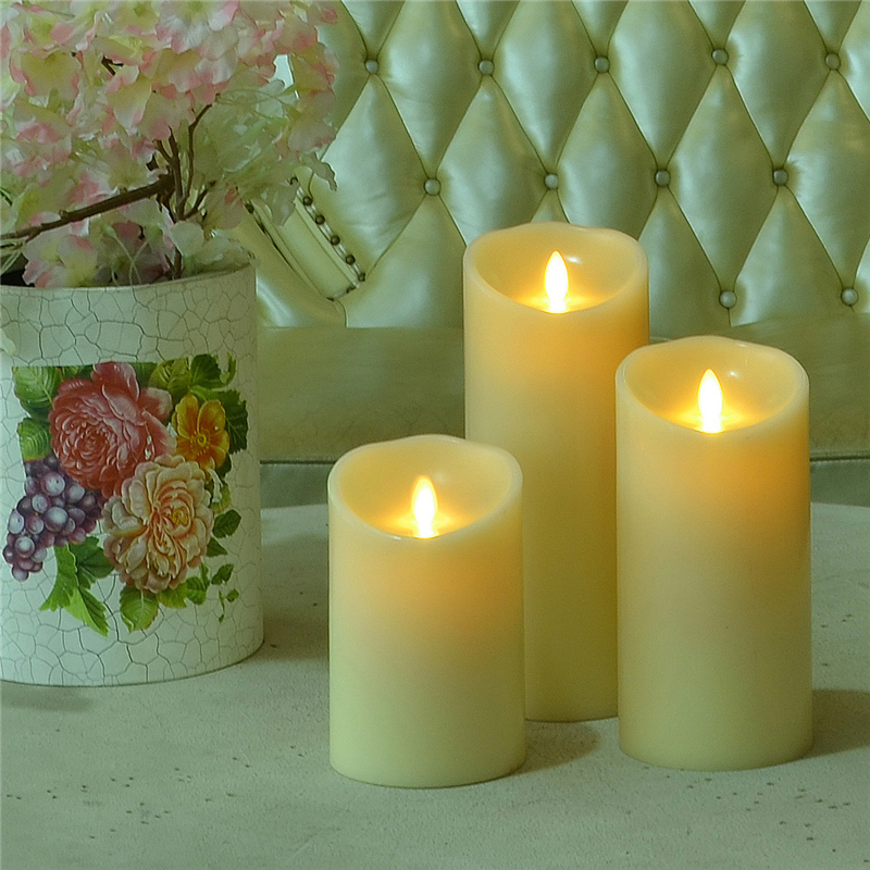 Flameless Flickering LED Candles dengan Moving Flame