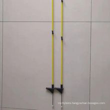 Electric fence single foot step in fiberglass fence post
