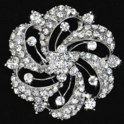 Mode duidelijk Strass broches voor bruiloft metalen bruids juwelen groothandel