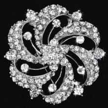 Broches de moda rhinestone claro para el banquete de boda joyería nupcial metal venta por mayor
