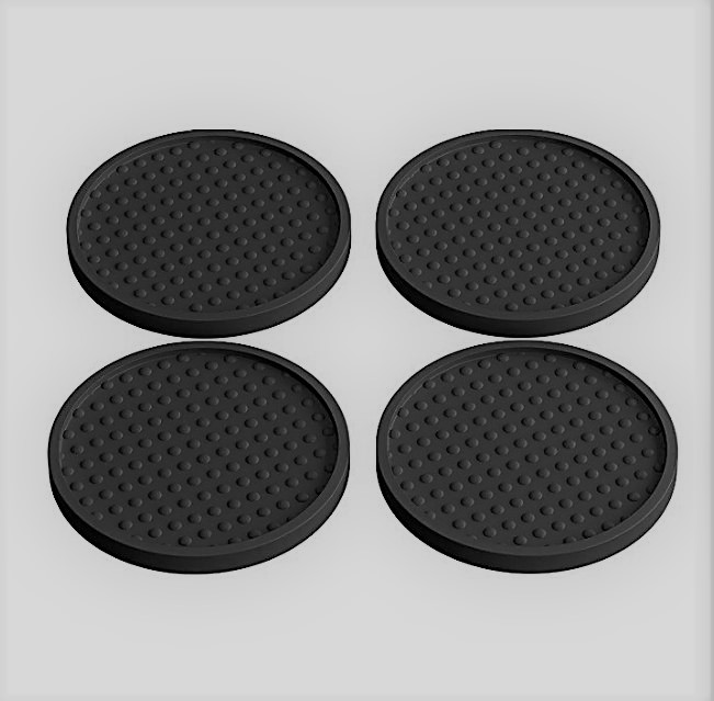 Cheap Rubber Silicone Drink Coasters Round