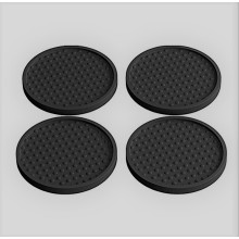 Coasters baratos da bebida do silicone de borracha Round or Square